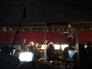 Een shot vanuit de orkestbak