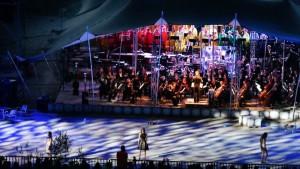 Foto orkest en koor